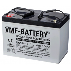 12V 104Ah VMF DEEP CYCLE AGM