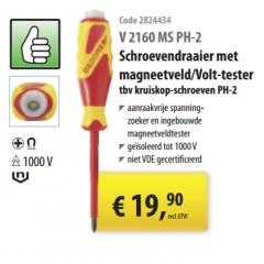 Schroevendraaier met magneetveld/volt-tester